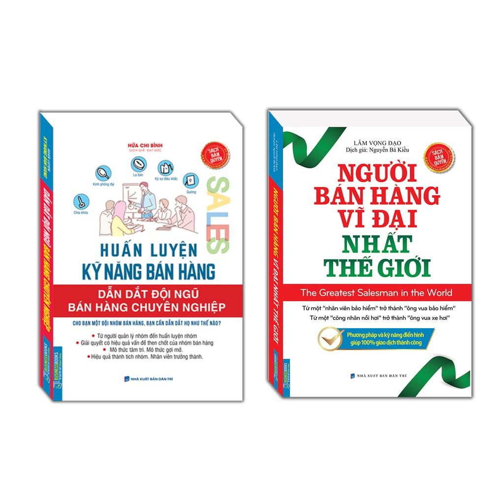 Sách - Huấn luyện kỹ năng bán hàng + Người bán hàng vĩ đại nhất thế giới (Sách bản quyền) Kèm Quà tặng