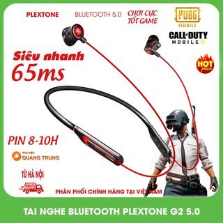 Tai nghe bluetooth plextone G2,độ trễ 65ms cực thấp,bluetooth 5.0,có đèn led