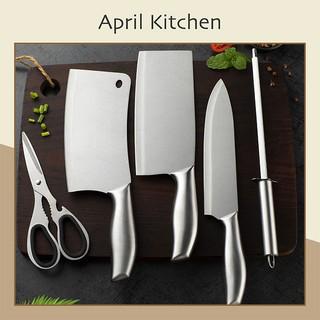 Bộ dao nhà bếp đa năng 5 món tặng kèm hộp đựng dao thép không gỉ cao cấp DAO01