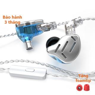[NC] Tai nghe kiểm âm KZ ZAX 16 Driver Hybrid In Ear | Chuyên Nghe Lossless | Jazz Ballad Nhạc cụ Không lời | Có Mic