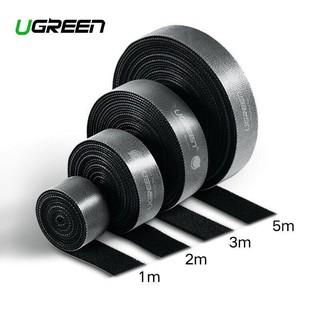 Dây dán Velcro Cao cấp Ugreen 70110 60484 70111 60485 LP124 (dài 1met đến 5met) Chính Hãng màu đen
