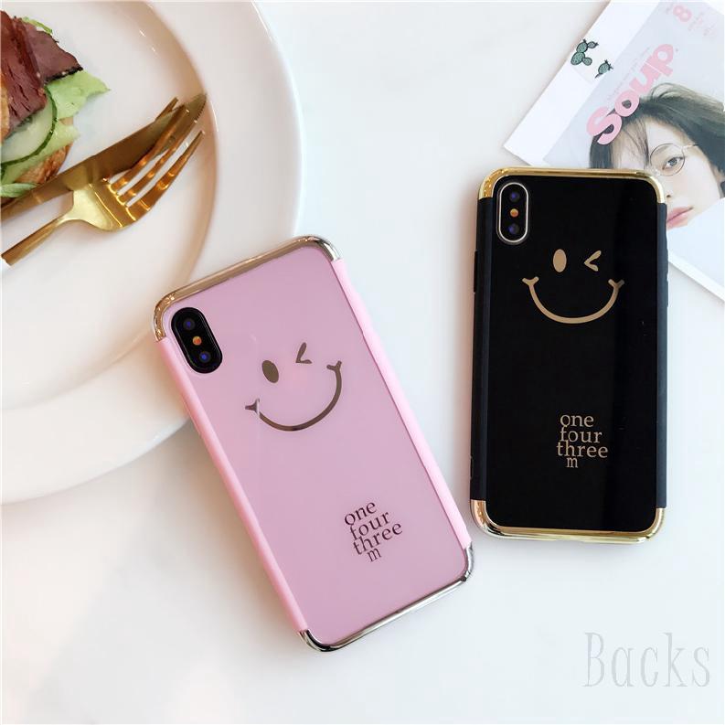 COD IPHONE ดำ ชมพู Smil Phone X  XS  XR XS Max 8   6SP โทรศัพท์ป้องกัน 921