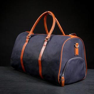 Túi du lịch phối vải canvas NUNU - Màu xanh đậm thumbnail