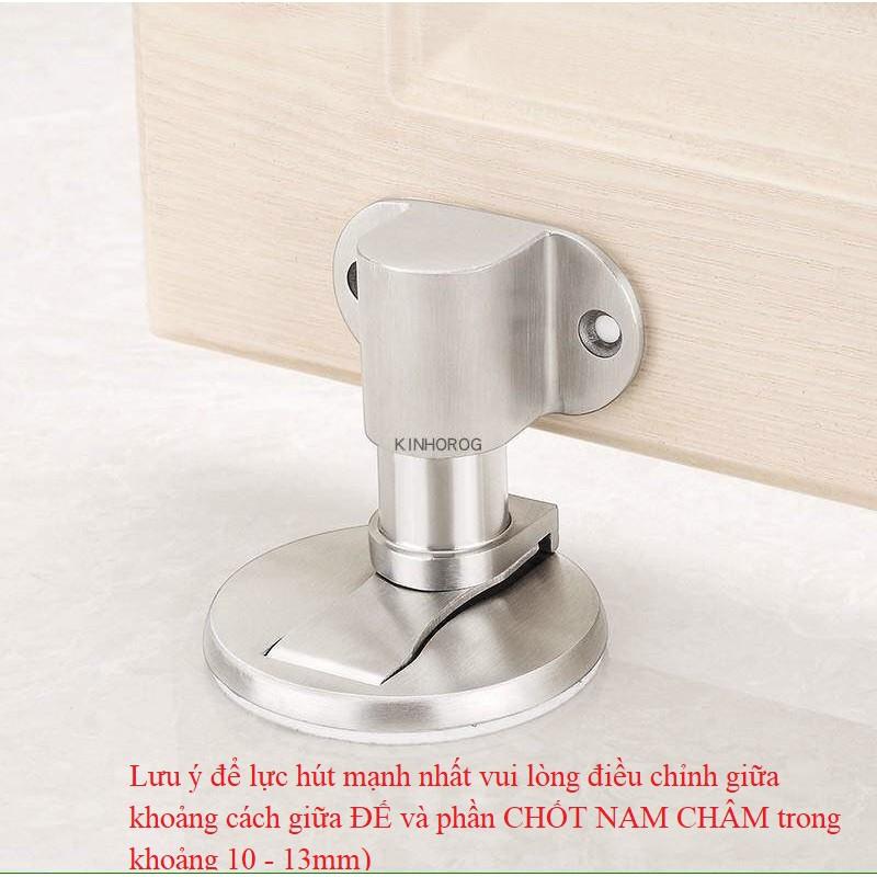 Bộ chặn cửa nam châm hít tự động - Chống va đập - Kèm keo dán và ốc vít