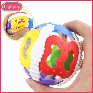 Soft Rubber 0-1Y Baby Rattles Little Loud Bell Ball Grasping Puzzle Toys