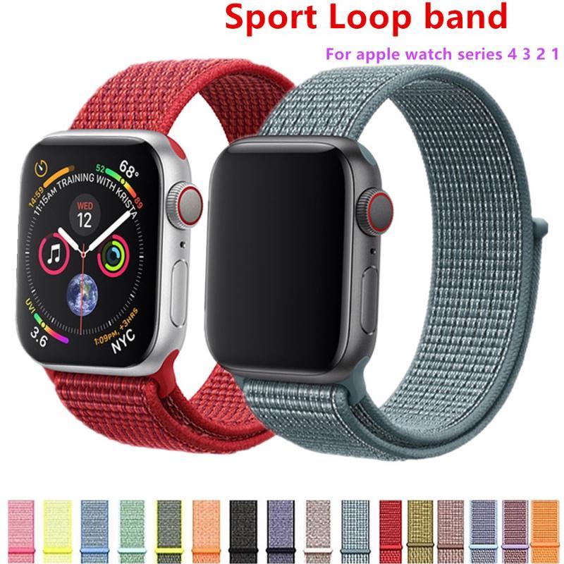 Dây đeo thay thế chất liệu nylon nhiều màu tùy chọn dành cho Apple Watch SE Series 1/2/3/4/5/6