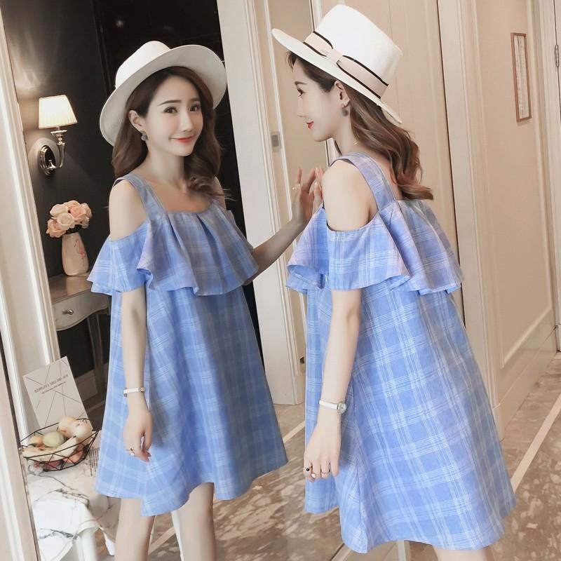 K382 váy bầu trễ vai kẻ xanh thời trang, nữ tính - 2480000 , 1159670574 , 322_1159670574 , 280000 , K382-vay-bau-tre-vai-ke-xanh-thoi-trang-nu-tinh-322_1159670574 , shopee.vn , K382 váy bầu trễ vai kẻ xanh thời trang, nữ tính