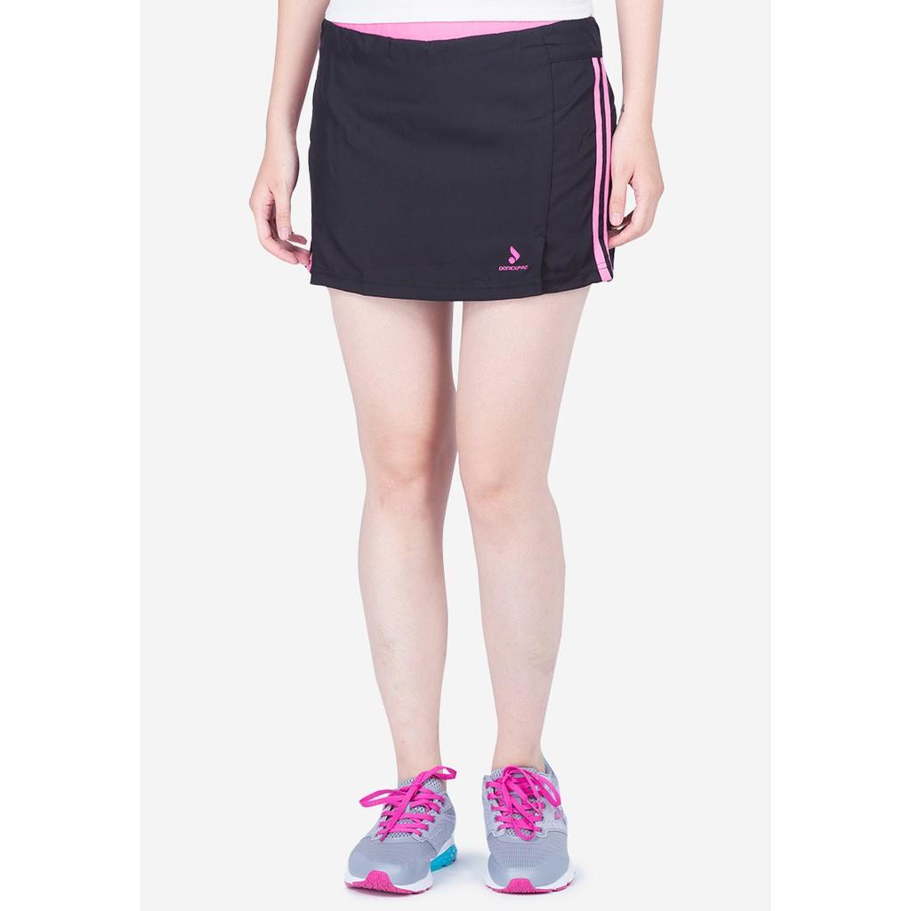 Quần váy thể thao nữ Donex Proning (chơi thể thao, dã ngoại...)-Đen phối hồng