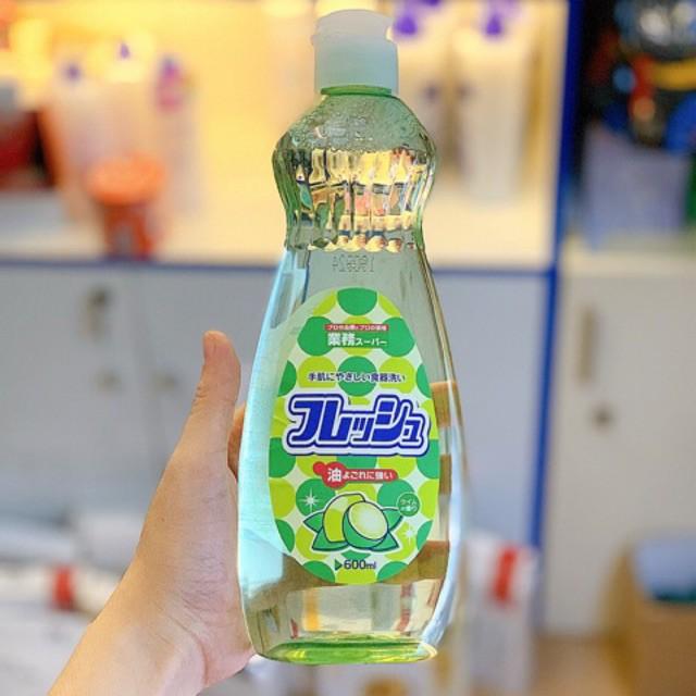Nước rửa chén bát chai 600ml hương chanh Rocket nội địa Nhật Bản