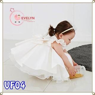 Váy Trẻ Em Công Chúa Evelyn Mã VF04 Thời Trang Cho Bé Gái 0-9 Tuổi Mặc Dự Tiệc Sinh Nhật