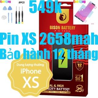 Pin iPhone Xs Con Trâu BISON 2658mAh chính hãng thumbnail