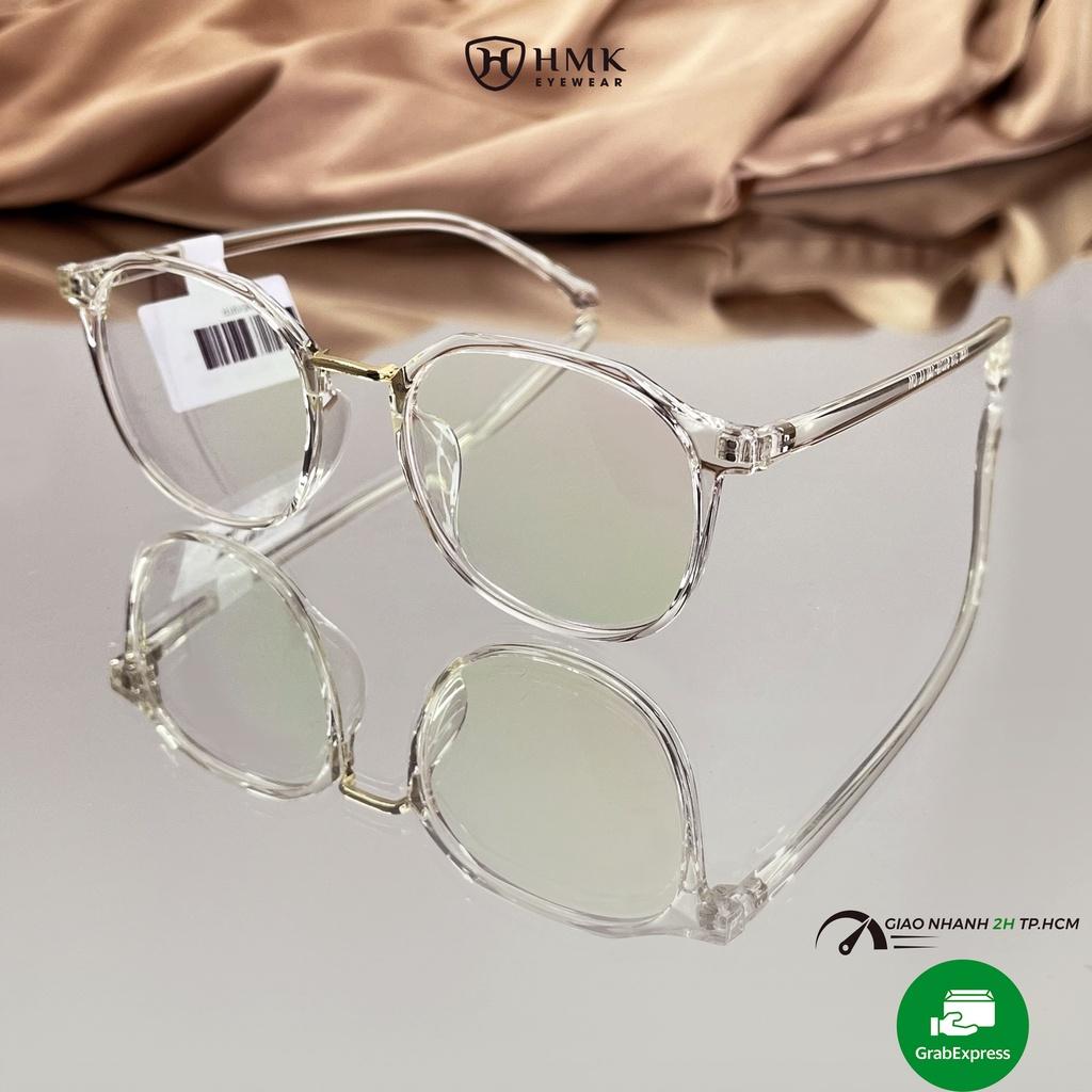 Gọng kính cận Nam Nữ HMK nhựa dẻo thời trang nhiều màu 519