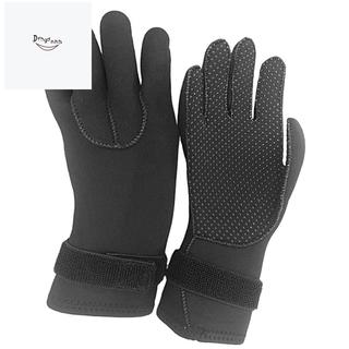 3mm Neoprene Wetsuit Gloves with Adjustable Strap Flexible for Men Women Winter Swimming Snorkeling Surfing S