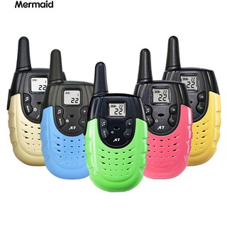 💖2Pcs 2 Ways Radio Rechargeable Mini Wireless Walkie Talkies Toy
