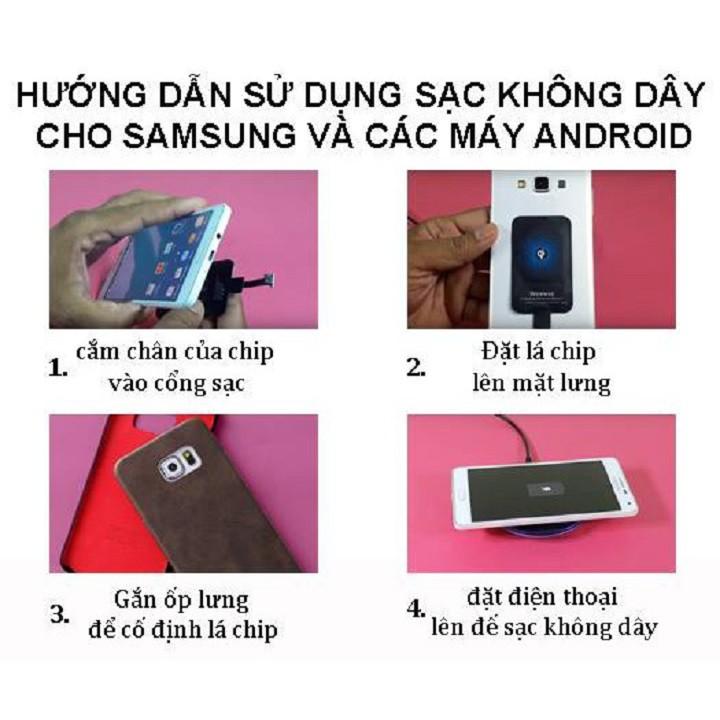 Bộ Chip Sạc Không Dây Cho Điện Thoại IOS Và Android