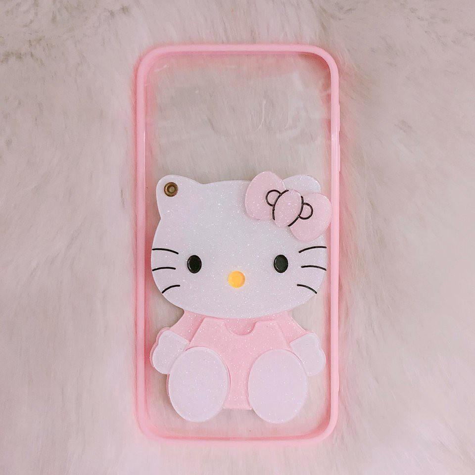 Ốp SAMSUNG S6 Edge / G925 kitty gương hồng