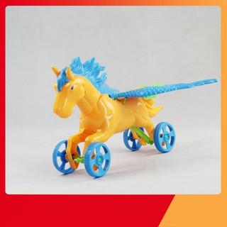[HÀNG THẬT] Đồ chơi xe đẩy ngựa chiến thần – Bibo 224