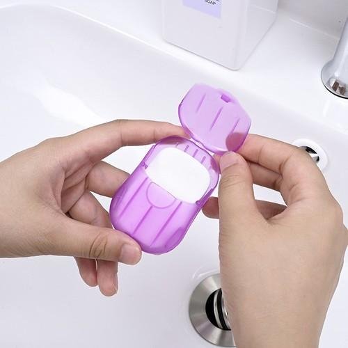 Xà bông giấy rửa tay phòng tránh dịch bệnh nhỏ gọn dễ dàng mang theo diệt khuẩn 100%