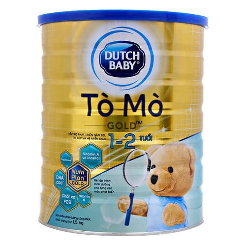 Sữa bột Dutch Lady Tò Mò Gold 1-2 tuổi 1.5kg