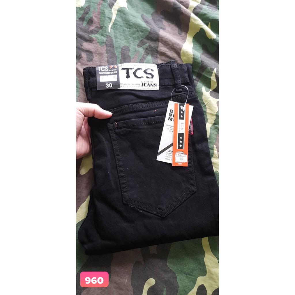 quần jean nam đen rách wash Rách Xước Họa Tiết Phong Cách Korea