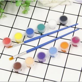 Sơn Acrylic gồm 12 màu + 2 bút