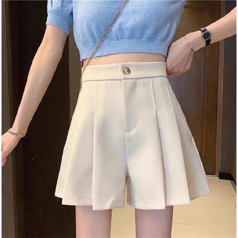 Quần short nữ ống rộng cạp chun cao cấp