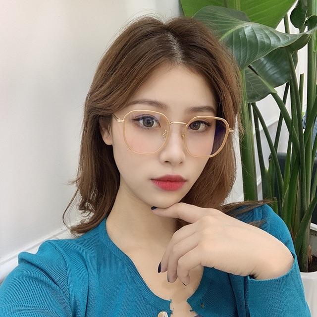 Gọng Kính Kim Loại Thời Trang Hàn Quốc KL121- Dáng Vuông, màu Bạc silver