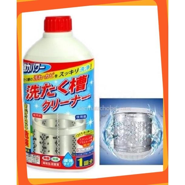 [Sale Giá Sốc] Chai nước tẩy lồng máy giặt 400ml Nhật