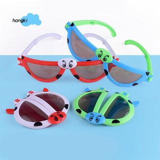 【HKM1】Foldable Kids Sunglasses Girls Boys Glasses Cute Child Eyewear Shades Goggles