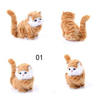 ♑BEW♑ Big Lovely Simulation stuffed plush cats toys soft sounding Electric Simulation [OL]