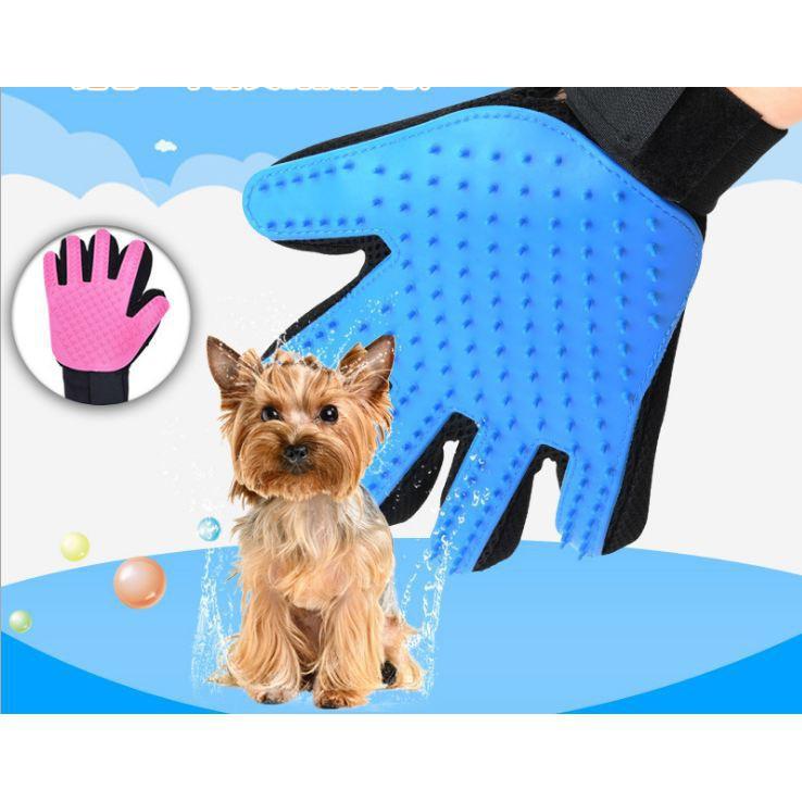 [GIẢM GIÁ]  Găng tay tắm & chải lông thừa cho Pet   Sản Phẩm Bán Chạy