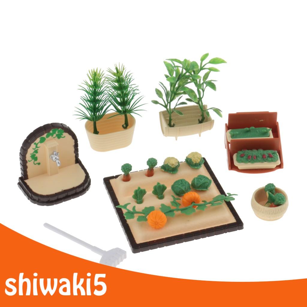 1:12 Scale Dollhouse Miniature Vegetables Plants Set