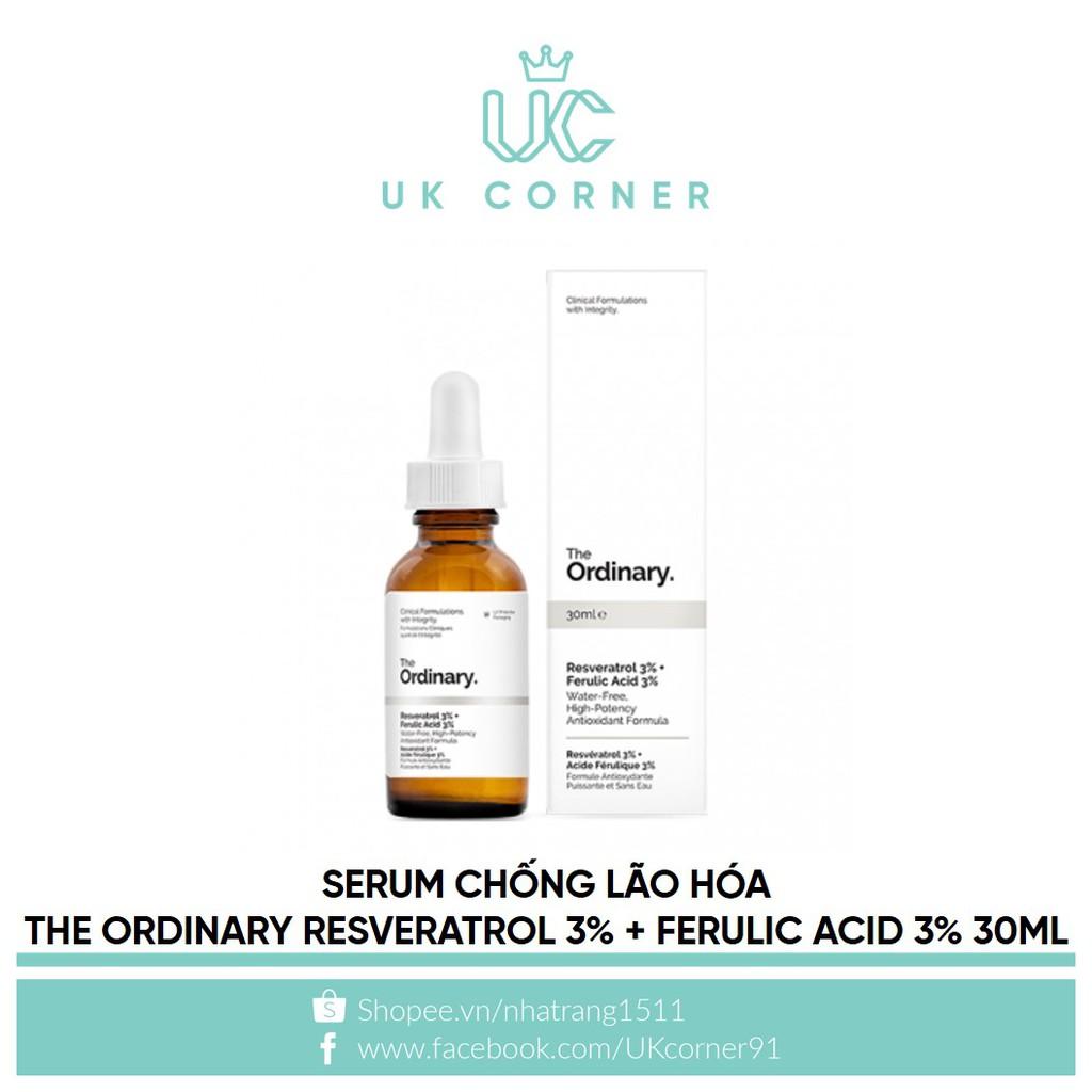 Serum chống lão hóa The Ordinary Resveratrol 3% + Ferulic Acid 3% 30ml
