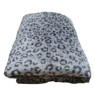 Mền lông cừu Thái BEO XÁM - hình 3