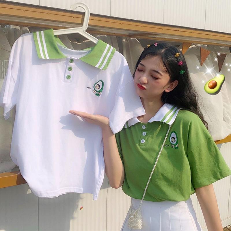 Áo Thun Nữ Có Cổ Phong Cách Hàn Quốc Năng Động