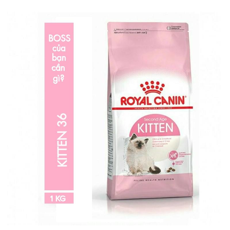 Thức ăn cho mèo con Royal Canin Kitten 36 (1kg túi chia) - 3170114 , 840426723 , 322_840426723 , 144000 , Thuc-an-cho-meo-con-Royal-Canin-Kitten-36-1kg-tui-chia-322_840426723 , shopee.vn , Thức ăn cho mèo con Royal Canin Kitten 36 (1kg túi chia)