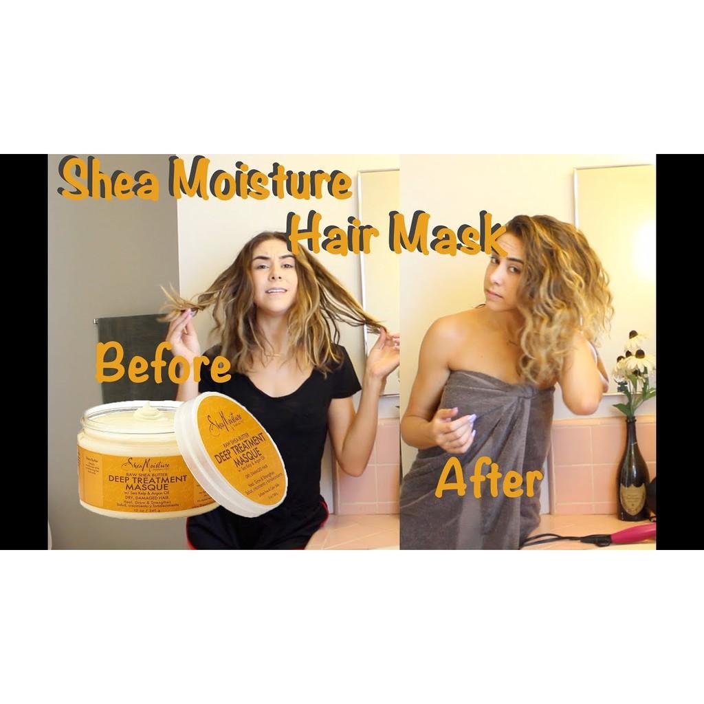 Bill US - Mặt nạ tóc SheaMoisture Shea Moisture Raw Shea Butter Deep Treatment Masque