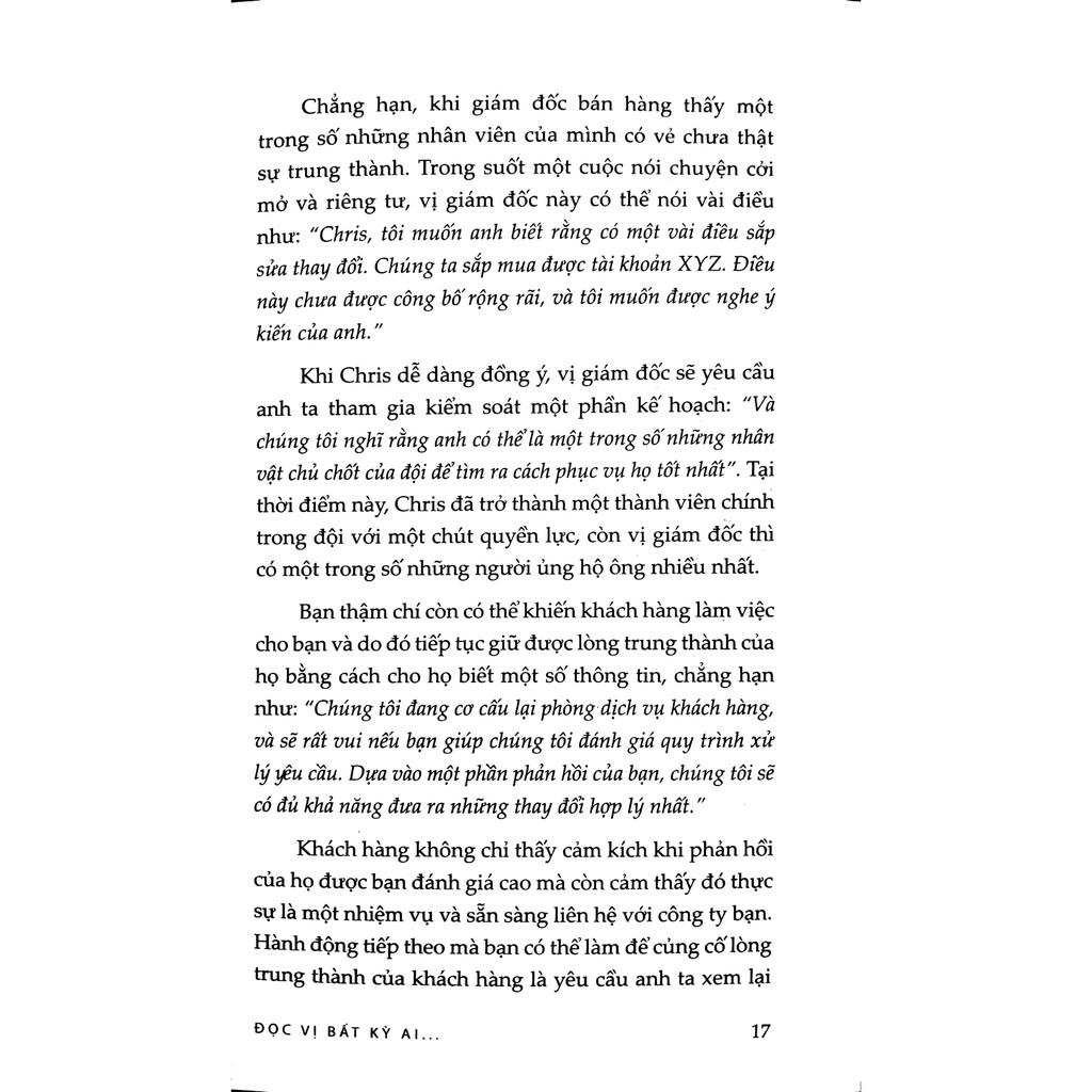 Sách - Đọc Vị Bất Kỳ Ai - Áp Dụng Trong Doanh Nghiệp