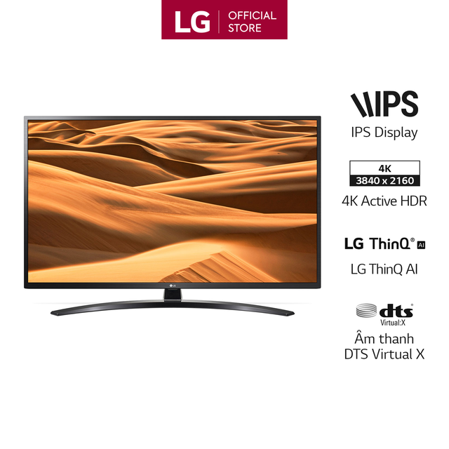 Smart Tivi LG 55 Inch UHD 4K 55UM7400PTA Model 2019 - Có Magic Remote (Chính H
