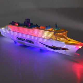 Kids Ocean Liner Cruise Ship Boat Electric Toy Flashing Led Lights Sounds New Lu
