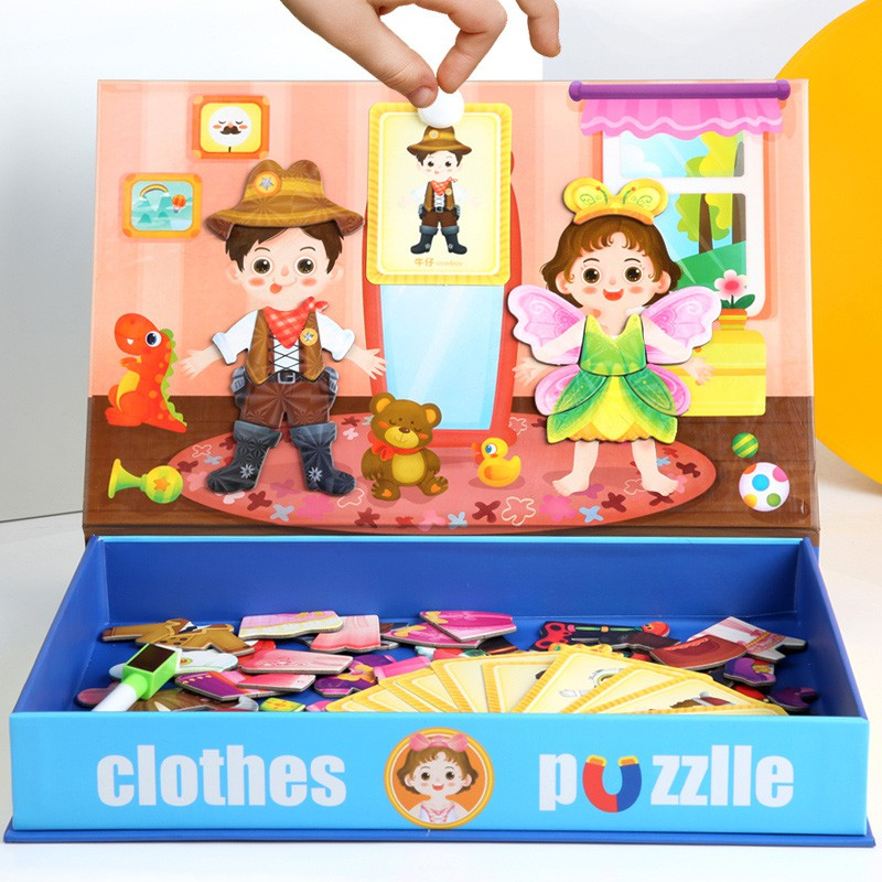 Đồ chơi trẻ em ghép hình nhà thiết kế thời trang 2 cho bé trai bé gái – trò chơi giáo dục phát triển trí não cho bé