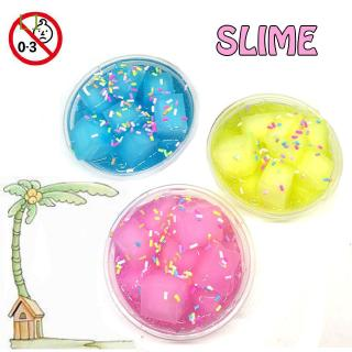 L1 DIY Colorful Fluffy Floam Squishies Scented Sludge|Slime