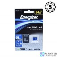 Thẻ nhớ Micro SDXC 64GB Energizer UL U3 95MB/s - FMDAAU064A