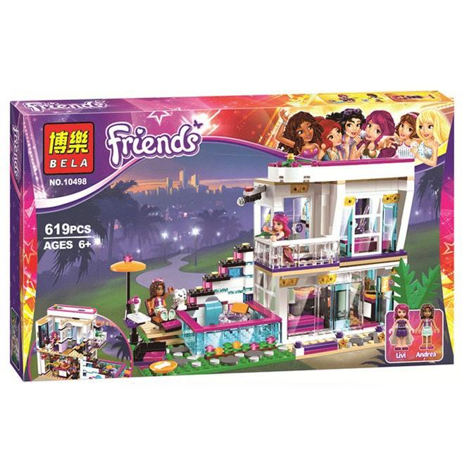 Lego Bela Friends 10498 / Lele The girl 37035 - Biệt thự của ngôi sao nhạc Pop Livi