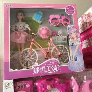 Bộ đồ búp bê đạp xe đạp