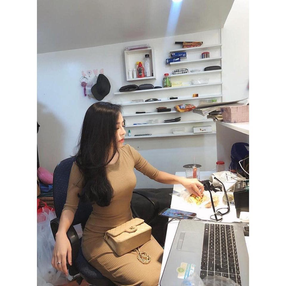 Váy Body Len Tăm ❤️ Đầm Body Thun Tăm Tay Lỡ 2020 Nhập Quảng Châu SIÊU HOT