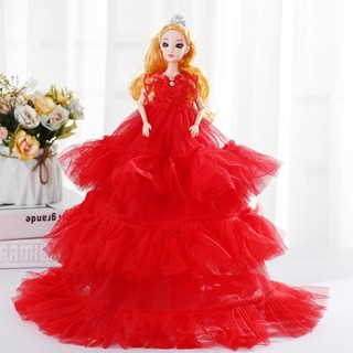 50CM Large 3 Layers Lace Dress Cartoon Doll Toy for Girls