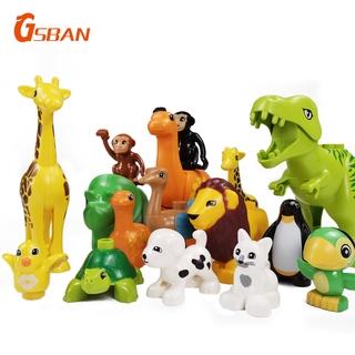Thành phố Lego tương thích Duplo Động vật khối xây dựng quà tặng đồ chơi trẻ em