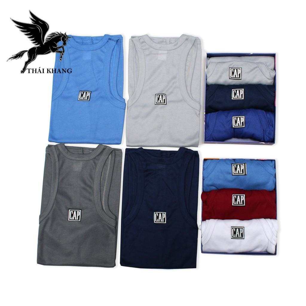 Áo thun nam 3 lỗ Gap hàng đẹp vải cotton 100% dày mát loại áo ba lỗ nam mặc nhà thông dụng