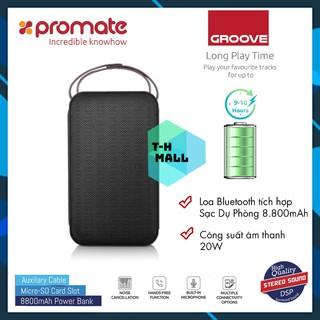 [Mã 159ELSALE hoàn 7% đơn 300K] Loa Bluetooth Promate GROOVE 20W Tích Hợp Sạc Dự Phòng 8800mAh thumbnail